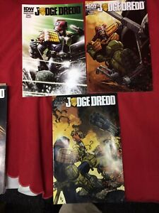 Judge Dredd IDW  # 1-3 and 5-12 (missing #4) + Year One 1-4 #d183
