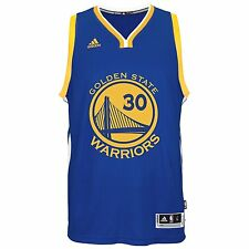 NBA Golden State Warriors Stephen Curry #30 Blue Adidas Swingman Jersey, Small