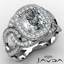 Cushion Diamond Engagement Designer Halo Ring EGL G VS1 14k White Gold 2.28 ct