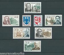 CÉLÉBRITÉS ARMOIRIES - 1966 YT 1468 à 1475 - TIMBRES NEUFS** LUXE