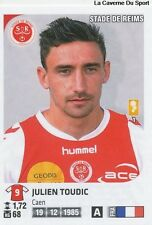 N°335 JULIEN TOUDIC # STADE REIMS VIGNETTE STICKER  PANINI FOOT 2013