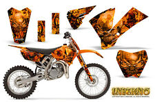 KTM SX85 SX105 2004-2005 GRAPHICS KIT CREATORX DECALS INFERNO ONP