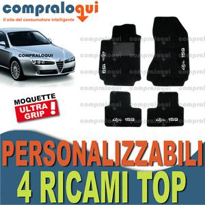 TAPPETI PER ALFA ROMEO 159 TAPPETINI AUTO SU MISURA + 4 DECORI TOP RICAMATI