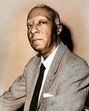 "A. PHILIP RANDOLPH AFRICAN AMERICAN CIVIL RIGHTS 8x10"" HAND COLOR TINTED PHOTO"