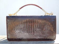 Sac main genuine skin crocodile d'époque vintage Handbag pochette à main
