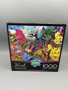 NEW Vivid Collection Hummingbird Garden Jigsaw Puzzle 1000-Piece Buffalo Games
