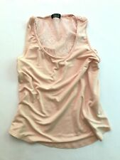 Nollie Pacsun - Womens - Tank Top - Sheer Lace Back Peach - Size Small S