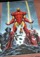 "Rare, HTF Iron Man Polar Fleece Panel Fabric 40""W x 58""L"