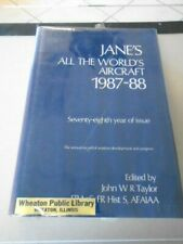 JANE'S ALL THE WORLD'S AIRCRAFT 1987-1988 HARDCOVER BOOK