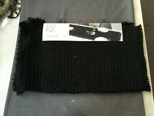 "Project 62 Extended Length Table Runner 20"" x 90"" Black 100% Jute New BSUP4.2"
