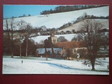 POSTCARD BUCKINGHAMSHIRE HUGHENDEN IN THE WINTER - VIEW TOWARDS THE CHURCH