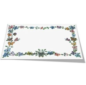 10 BLANK Wedding Party Event Table Place Card Hand Drawing Butterfly 65x98mm