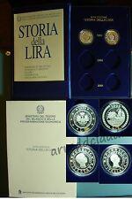 ITALIA STORIA DELLA LIRA 1999  DITTICO SERIE SPECIALE 1+1 LIRA  ARGENTO PROOF
