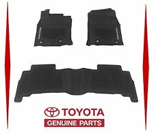2013-15 2016 2017 4RUNNER FLOOR MATS RUBBER ALL WEATHER TOYOTA OEM