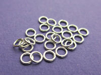 3mm 22 gauge 0.71mm 925 Sterling Silver Closed Jump Rings 24pcs.