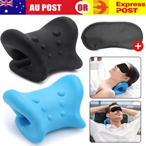 Neck Traction Pillow Rest Cushion Support Neck Stretcher Cervical Pain Relief AU