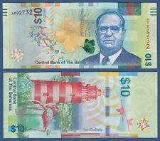 BAHAMAS 10 Dollars 2016  UNC  P. NEW