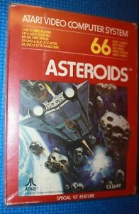 Complete Boxed Atari 2600 Game: Asteroids CX2649 in Protective Sleeve