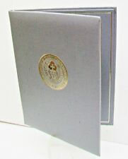 RELIGIOUS Christian Jesus Christ 2 Picture Frame Holder Grey Vinyl Gold Tooling