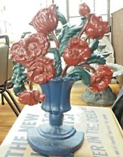 Vintage Cast Iron Hubley Poppies in a Basket Replica