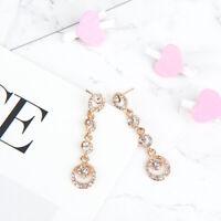 Elegant Chic  Girl Circle Flash Drill Drop Dangle Earring Trendy Jewelry Gift