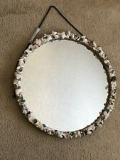 Beach, Coastal 20-inch Round Seashell Mirror Free Shipping