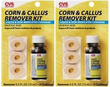 2 NEW CVS CORN & CALLUS REMOVER KITS DR SCHOLL'S SALICYLIC ACID FREE SHIPPING US