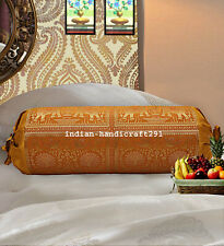Indian Bolster Pillowcase Cylindrical Traditional Ethnic Design Bolster Pillows