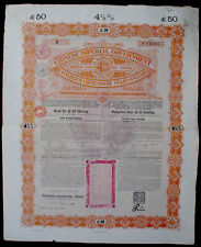 Chinese Imperial Government 4 1/2% Gold Bond 50 ₤ 1898 uncancelled + coupons
