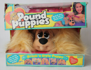 VERY RARE VINTAGE 1996 POUND PUPPIES BRUSH N STYLE PUPPY GALOOB NEW MISSES COMBS