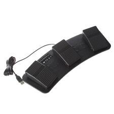 FS3-P USB Triple Foot Switch Pedal Control Keyboard Mouse Plastic O4L7