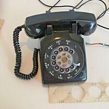 Vintage Stromberg Carlson SC 500-D Black Rotary Desktop Telephone w/Wiring Diagr