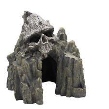 Aquarium Supplies Fish Tank Decoration Cool Skull Mountain Ornament Playing Cave