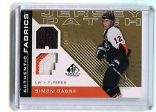 2007-08 Authentic Fabrics Jersey Patch Simon Gagne Flyers AF-SG jh17