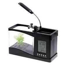 USB Rechargeable Plastic Mini Small Fish Tank Black Q3B7