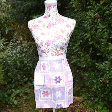 lot de 2 tabliers femme 36 38 40 vintage 1970 jaune fleurs  ZAZA2CATS new
