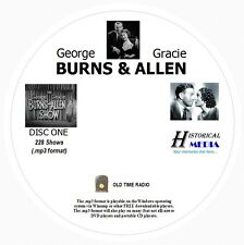 BURNS AND ALLEN SHOW - 228 Shows Old Time Radio In MP3 Format OTR 3 CDs