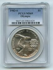 1983 S $1 Olympic Silver Commemorative Dollar PCGS MS69