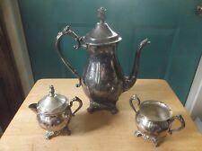 F.B. Rogers Silver Plate Silver Co. Coffee Pot, Creamer, Sugar Bowl Pattern 2305