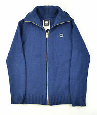 g-star raw Raw Correct Deep Blue Zip Front Wool Blend Cardigan Small Slim Fittin