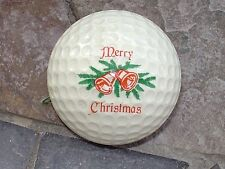 ONE PING VINTAGE  GOLF BALL RED AND WHITE WITH MERRY CHRISTMAS LOGO.PING 1 .PRIS