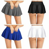Women Ruffle Pleated Mini Skirt Tennis Student Micro Short Skirt Shorts Costume