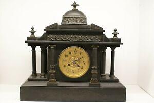 Slate mantle clocks antique pre 1930