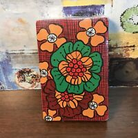 Vintage Trump 🌺🏵🌸 Hippy Flower Power Red Green Gold Playing Cards USA Sealed