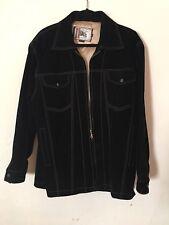 26 Red Vintage Suede Black Coat Jacket Mens M Groovy Vibe Retro 1990's Lined