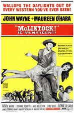 MCLINTOCK Movie MINI Promo POSTER John Wayne Maureen O'Hara Yvonne De Carlo
