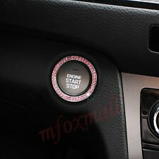 Auto Parts Engine Start Stop Push Button Ignition Ring Cover Trim Pink Color