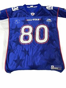 Preowned Reebok New York Giants Probowl #80 Jeremy Shockey Jersey Size Large