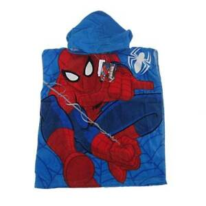 New Licensed Marvel Spiderman Hooded Towel One Size Beach Pool Boys Girls