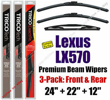 Wipers 3pk Premium Front Special Rear - fit 2008+ Lexus LX570 19240/220/12A